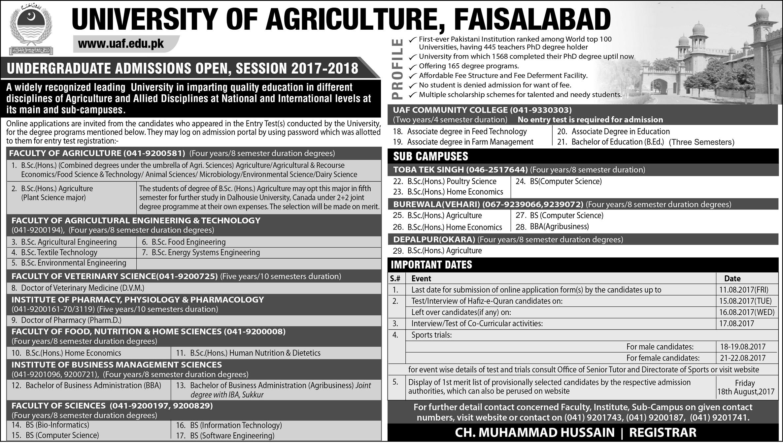 University of Agriculture, Faisalabad, Pakistan