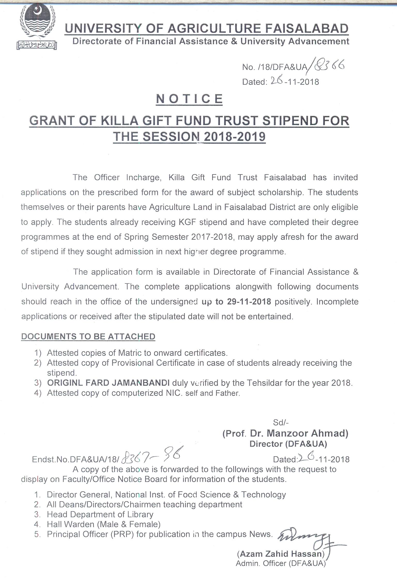 University Of Agriculture Faisalabad Uaf